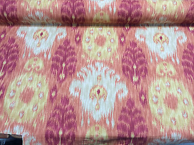 Fabric 30 Yard Bolt - 30 yard roll Home Accent Vibrant Ikat Red Fabric Bolt sale
