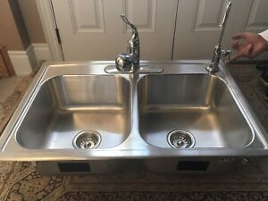 Kohler Double Sink with Faucets