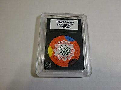 Nevada Club $500 Reno NV Casino Chip In Holder