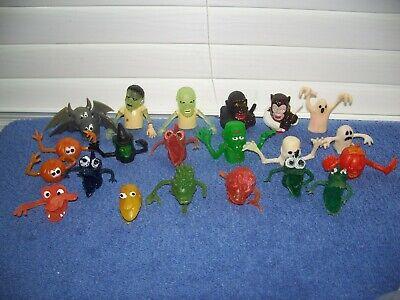 Vintage Lot of Jiggler Uglies Rubber Other Monsters Finger Puppets