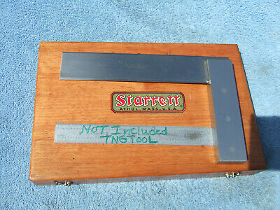 Starrett No.55 6 Square With Box Beveled Edge Toolmaker Machinist Usa Squares