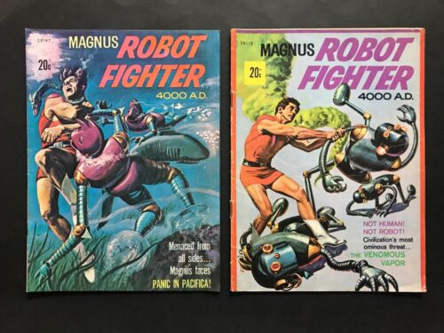 COMIC BOOK LOT OF 2 AUSTRALIAN ISSUES MAGNUS ROBOT FIGHTER #25157 & 25112