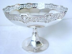 EXCELLENT BEAUTIFUL ANTIQUE STERLING SILVER DISH/TAZZA 1923.