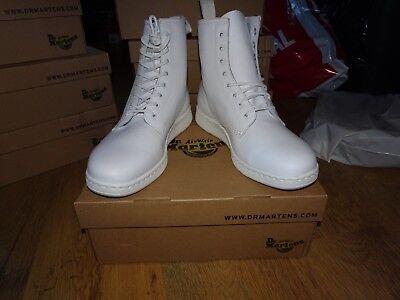 Dr Martens NEWTON White Leather Boots *Size 11 UK* BNIB UNISEX RRP £115