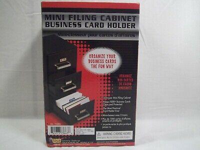 Mini Filing Cabinet Business Card Holder