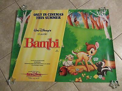 Bambi movie poster 30 x 40 inches Walt Disney original 90's reissue poster
