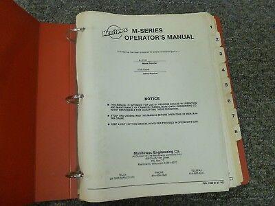 Manitowoc M250 Crawler Crane Owner Operator Manual Electrical Wiring Diagram