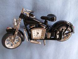 Motorcycle Desk Clock Table Mantle Shelf Decor NEW
