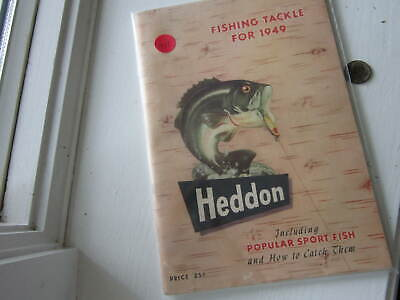 "VINTAGE HEDDON FISHING TACKLE CAT. BOOK 1949 7""X 10"" 80 PAGES"