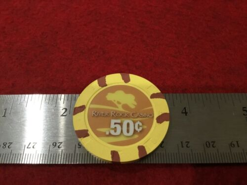 50c RIVER ROCK  casino chip Geyserville California