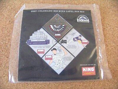 2005 Colorado Rockies Puzzle Pin  4  Americas Pastime  Top  King Soopers