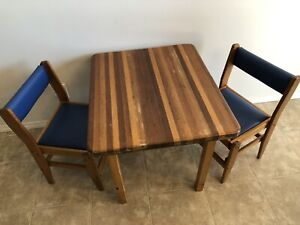Toddler table & chairs wooden 1970s