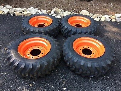 4 New 10-16.5 Skid Steer Tireswheelsrims For Kubota Ssv65 - Camso Sks332