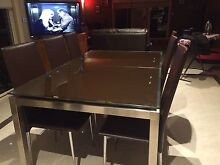 Beautiful dining setting - Glass extendable table & 6 chairs West Footscray Maribyrnong Area Preview