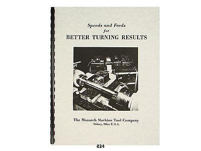 Lathe Speeds Feeds Metal Turning Manual - Monarch Atlas Clausing Sears 824