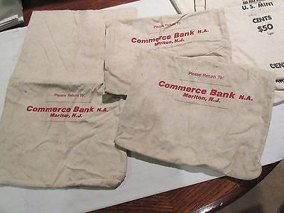 Bank Bags   Commerce Bank Of Nj   9  X 7    Lot Of 3 Bags