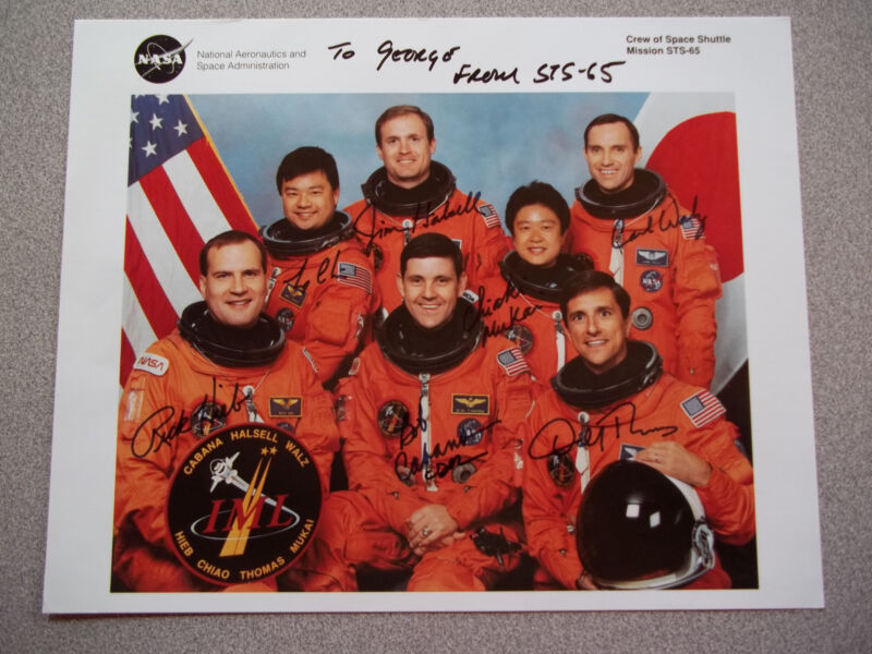STS-65 8X10 Autographed Crew Photo