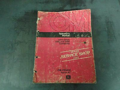 John Deere 3300 And 4400 Combines Operators Manual Om-h95656 Issue A7