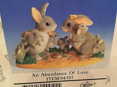 "Charming Tails ""AN ABUNDANCE OF LOVE""  DEAN GRIFF RABBIT FAMILY BABIES"