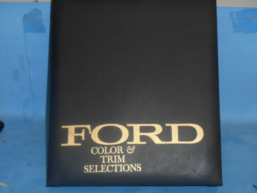 1965 Ford Color & Trim Selection Book