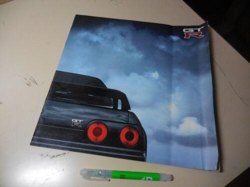 Nissan SKYLINE GT-R Japanese Brochure 1989/08 R32 RB26DETT GTR BNR32  Fold/waved