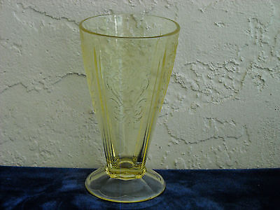 Primo Paneled Aster Footed Tumbler  Yellow