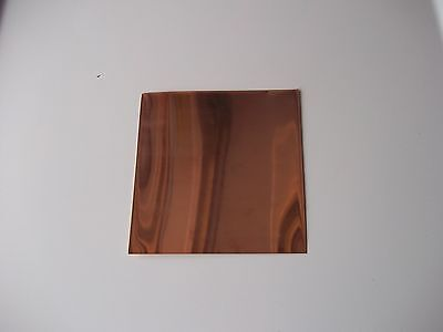 New Copper Sheet  6 X 6 16 Ounce  .021 24 Gauge