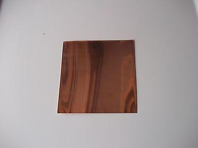"Copper Sheet Plate .0431/"" 32oz 18 gauge 12/"" x 12/"""