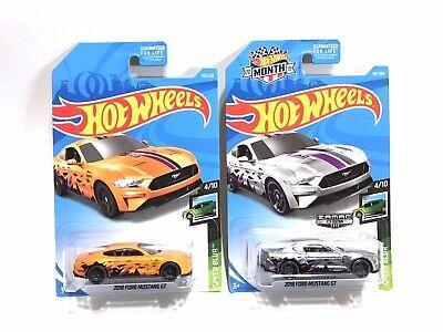 2019 Hot Wheels 2018 Ford Mustang GT Orange & Zamac Color Variation Lot (2)