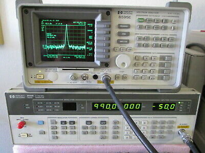 Synthesized Rf Signal Generator 0.1 - 990mhz Tested Hp8657a High Stabilit Optio