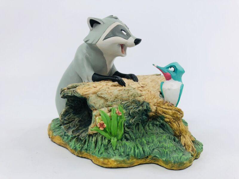 Disney Meeko Racoon Flit Hummingbird Pocahontas Statue Figure Resin