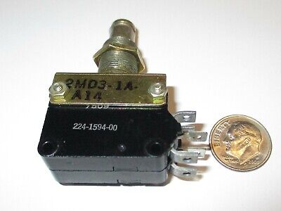 Push Button Switch Robertshaw Dpdt On - On Tactile 10 Amps Nos
