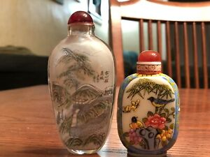 Chinese style, glass vintage vases