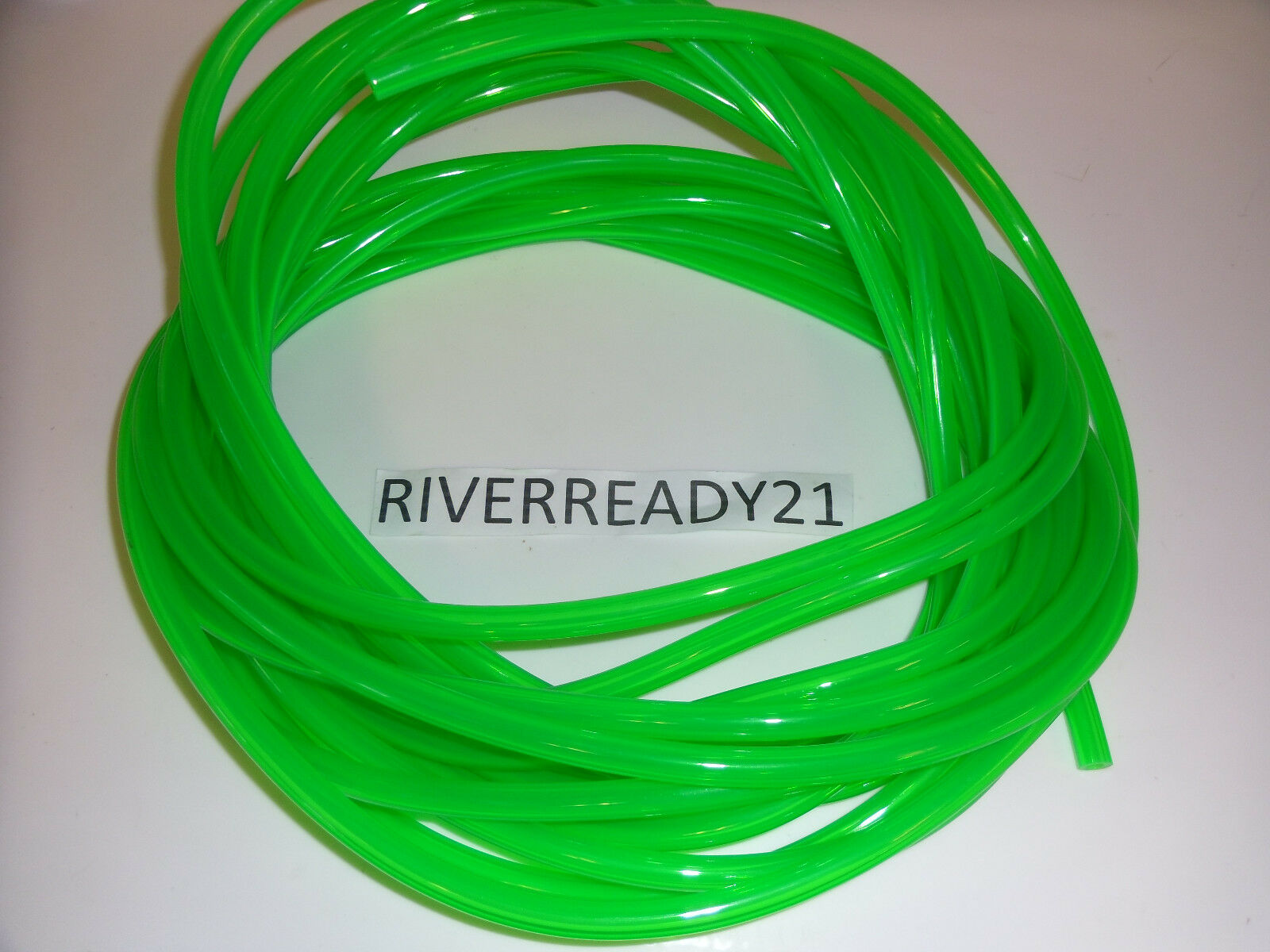 """1/4"""" I.D. Green Fuel-Gas-Line-Hose 3/8"""" O.D. PWC Seadoo Jet-Ski Sold by the Foot"""