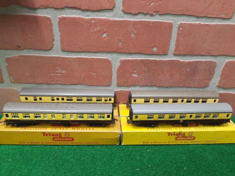 Triang Railways TT Gauge T.182-T.184 WR Composite Mainline Coaches