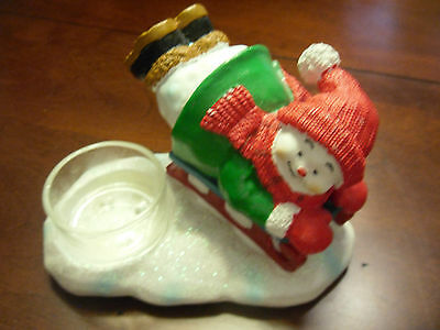 YANKEE CANDLE SNOW FOLK COLLECTION VOTIVE CANDLE HOLDER***NEW**RETIRED