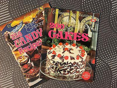 Culinary Arts Institute Kitchen Companion   200 Cakes  200 Candy Recipes Books