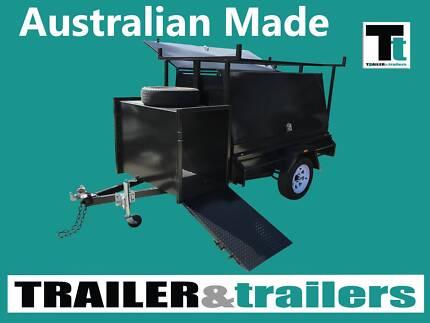 6x4-TRADESMAN TRAILER SINGLE AXLE 900MM TOOL BOX COMPRESSOR BOX  Traralgon East Latrobe Valley Preview