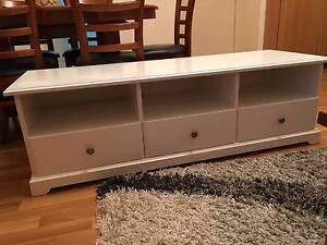 White TV Bench (IKEA) Burwood Burwood Area Preview