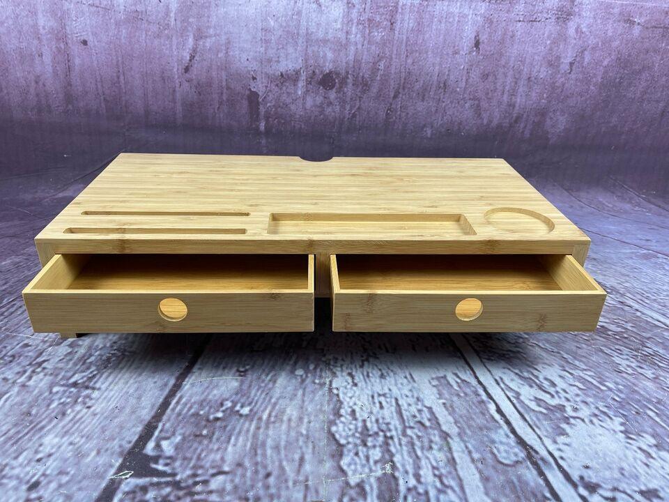 Monitorständer Bambus, Bildschirmerhöhung mit 2 Schubladen NEU in Nordrhein-Westfalen - Dormagen