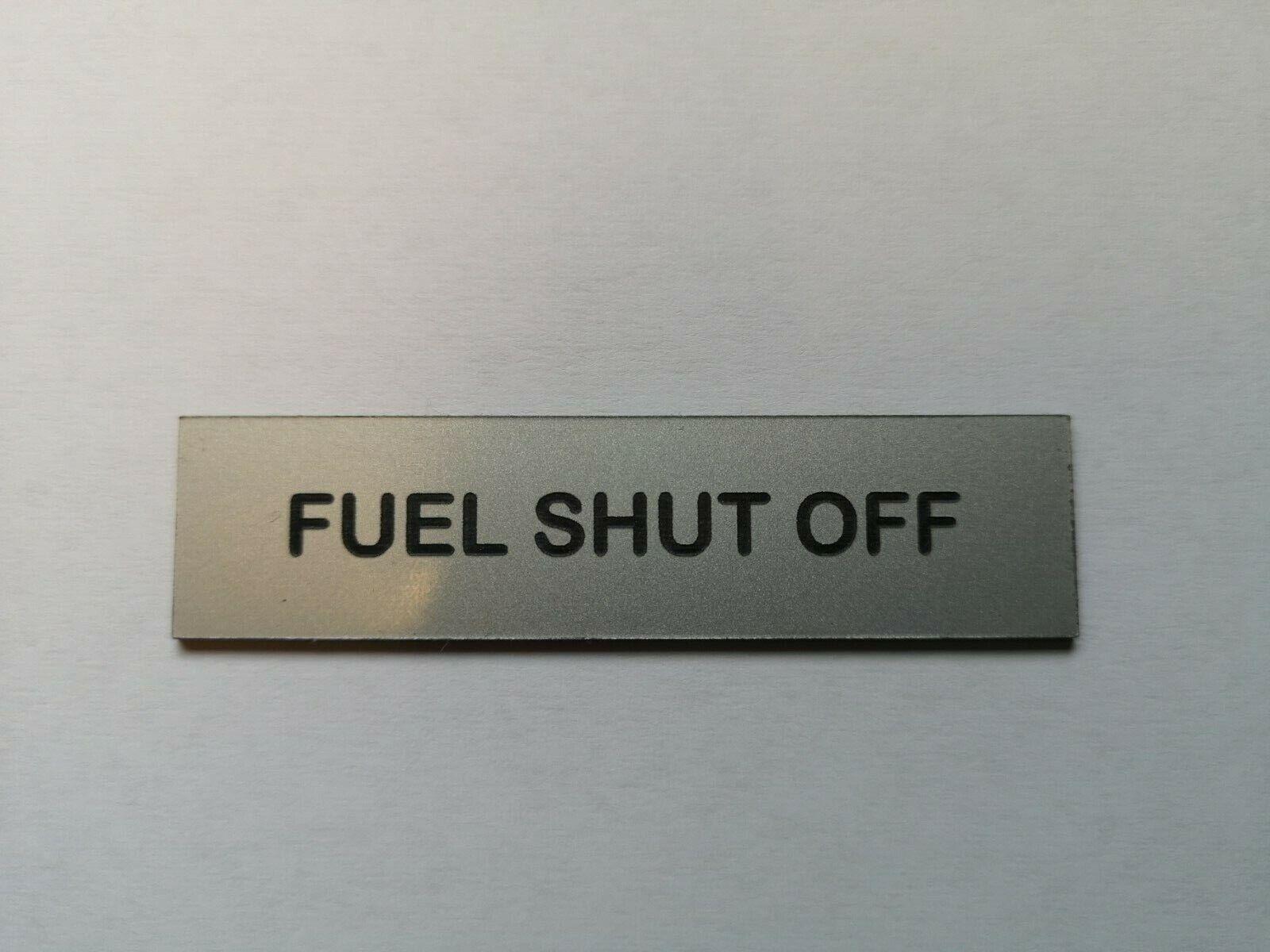 Boat Safety Label Plaque Sticker Isolation Gas Shut Off Valve 75 x 19 Red//White