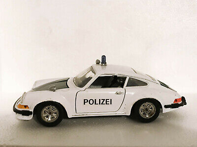 Modellino Burago 1:24 Vintage - Porsche 911 Polizei cod 0102 - da recupero