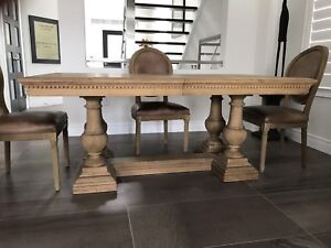 Restoration Hardware Dining Table & Chairs