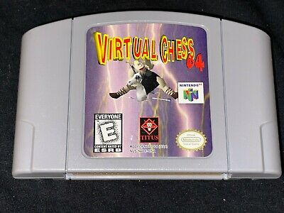 Virtual Chess 64 (Nintendo 64, 1998) Cleaned / Tested / Authentic N64