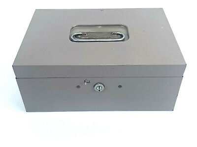 10 X 7 X 2 Steelmaster Cash Box Lift-out Coinbill Tray Usa Sturdy No Key