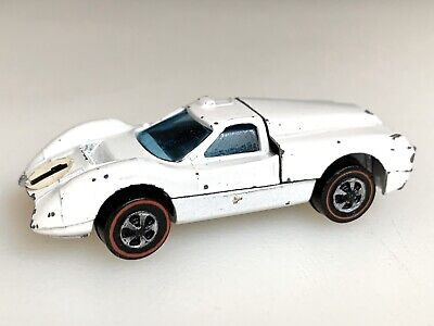 Hot Wheels Redline Enamel White Ford J-Car With Rare White Hong Kong Base! 🔥