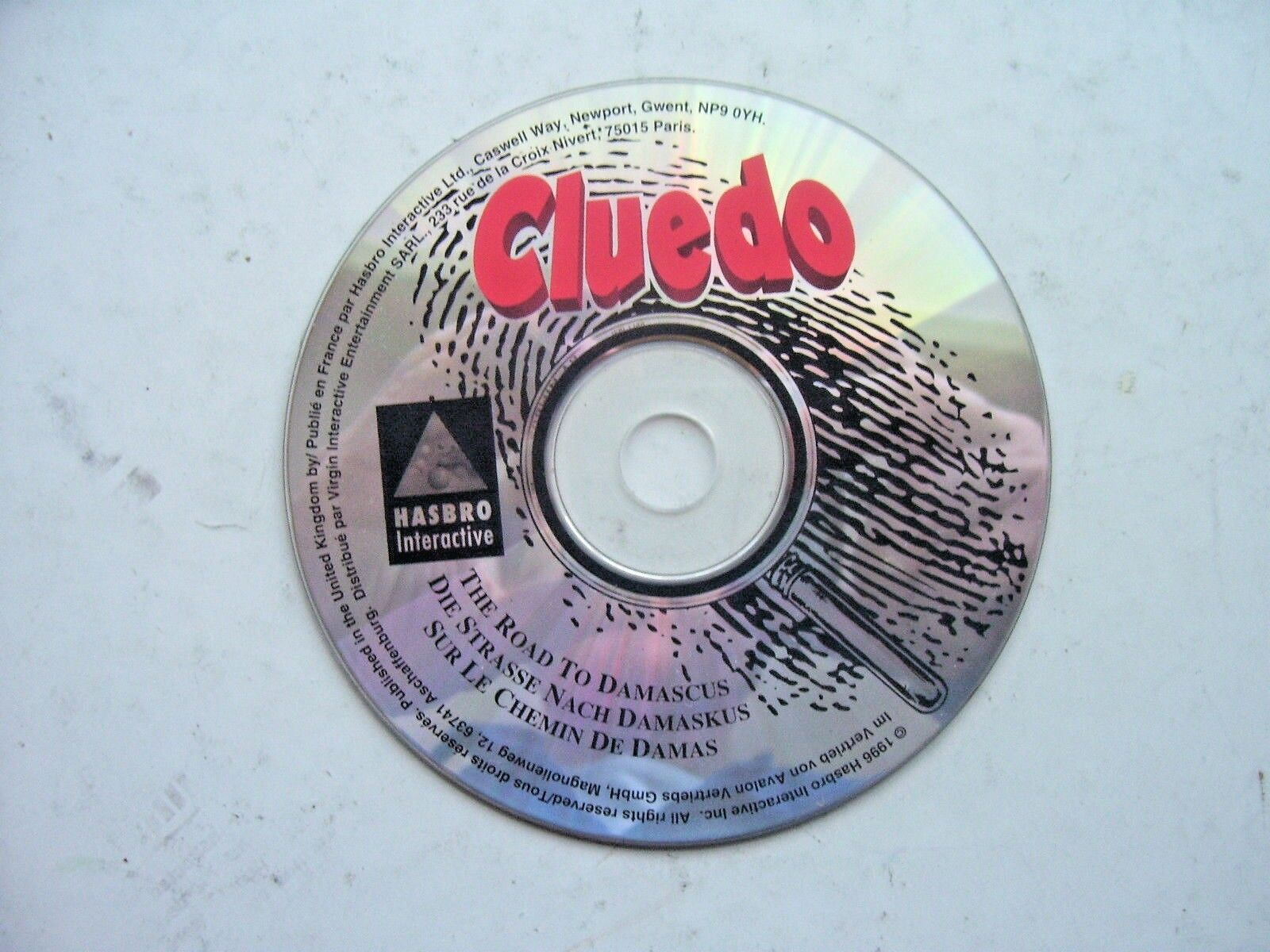 Cluedo The Road to Damascus ( PC Game CD Disc 1997)