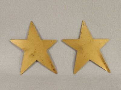 House of Hatten Star Christmas Ornament Metal Signed H of H 89 Lot of 2