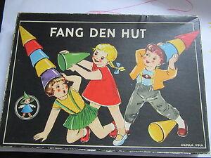 Fang den Hut-Ursula Volk-Hut auf Hut-DDR-Würfelspiel 60er Jahre