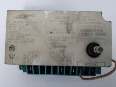 Johnson Controls Direct Spark Ignition Control G765bca-10 41k4901 0228 D1 Cp